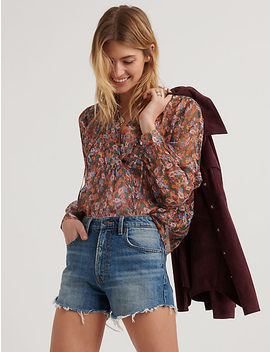 Ditsy Floral Popover Peasant by Lucky Brand