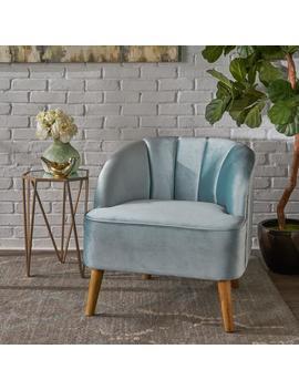 Scarlett Modern New Velvet Club Chair by Gdf Studio