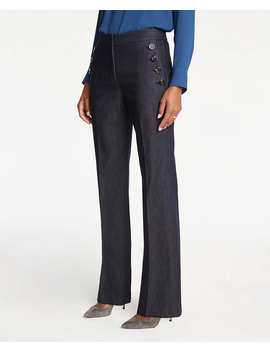 Faux Denim Sailor Flare Trousers by Ann Taylor