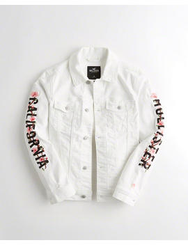 Graphic Denim Jacket by Hollister