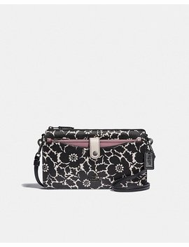 Noa Pop Up Messenger With Colorblock Anemone Print by Coach
