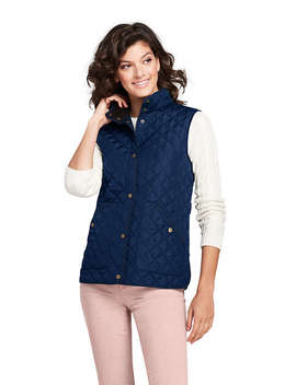 Women's Quilted Barn Insulated Vest by Lands' End