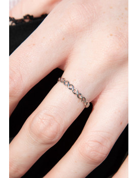 Silver Twist Ring by Brandy Melville