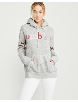 Exploded Logo Hoodie by Abercrombie & Fitch