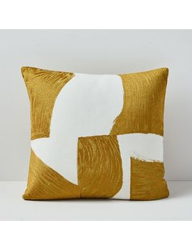 Embroidered Geo Tile Pillow Cover by West Elm