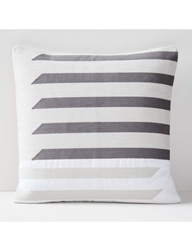 Crewel Shadow Bars Pillow Covers by West Elm