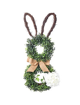 Boxwood Bunny Door Hang 28 In by At Home