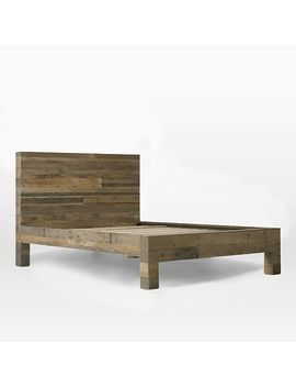 Emmerson® Reclaimed Wood Bed   Natural by West Elm