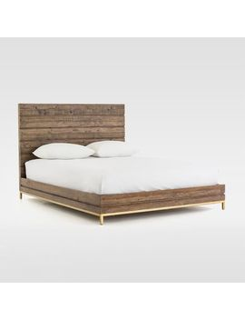 Reclaimed Wood + Iron Base Bed by West Elm