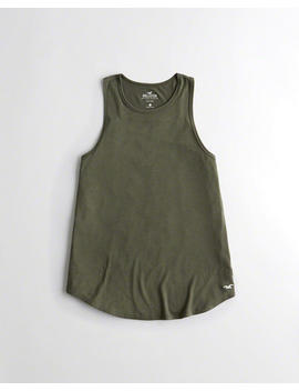 High Neck Easy Tank by Hollister