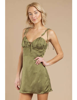 Kira Green Polka Dot Dress by Tobi