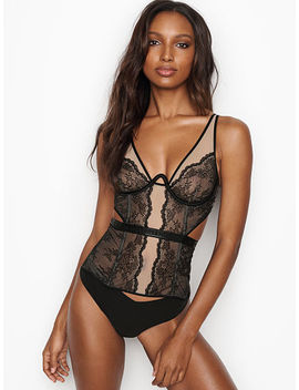 Logo Chantilly Lace Corset by Victoria's Secret