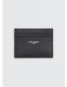 Leather Credit Card Case by Saint Laurent