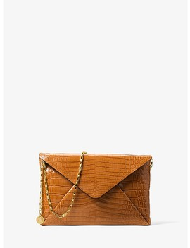 Runway Crocodile Envelope Clutch by Michael Kors Collection