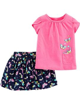 2 Piece Butterfly Top & Skort Set by Carter's