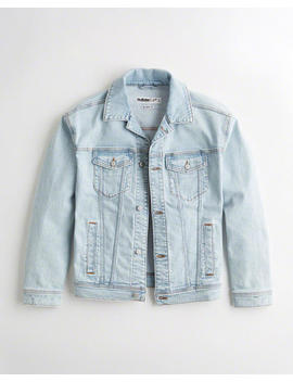 Relaxed Denim Trucker Jacket by Hollister