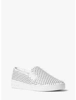 Keaton Perforated Leather Slip On Sneaker by Michael Michael Kors