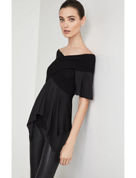 Off The Shoulder Peplum Top by Bcbgmaxazria