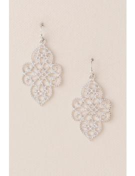 Maren Filigree Drop Earrings In Silver by Francesca's