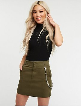 Chain Link A Line Skirt by Charlotte Russe