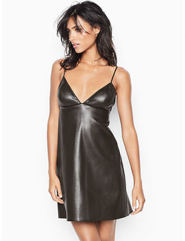 Faux Leather Slip Dress by Victoria's Secret