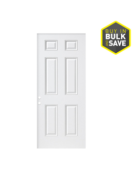 Masonite Universal Reversible Primed Steel Slab Entry Door With Insulating Core (Common: 32 In X 80 In; Actual: 31.75 In X 79 In) by Lowe's