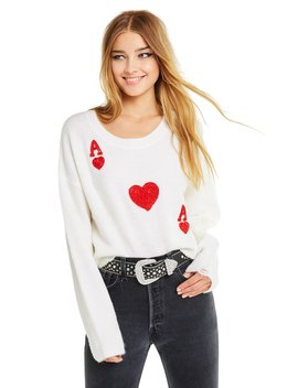 Queen Of Hearts Claude Sweater by Wilfdox
