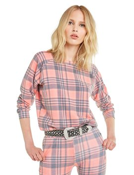 Sweetheart Plaid Junior Sweatshirt by Wilfdox