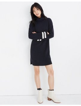 Bell Sleeve Turtleneck Sweater Dress In Nautical Stripe by Madewell