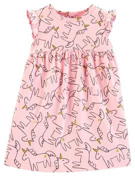 Unicorn Jersey Dress by Carter's