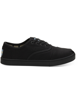 Black On Black Heritage Canvas Women's Cupsole Cordones Sneakers by Toms