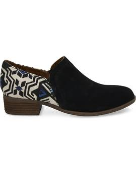 Shade Suede Metallic Jacquard Women's Shaye Booties by Toms