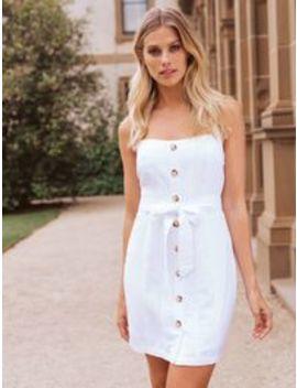Piper Linen Halter Mini Dress by Forever New