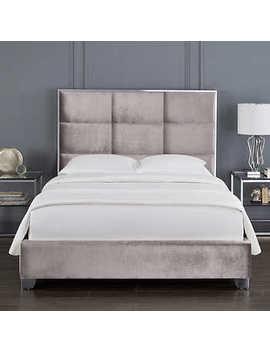 Miami Grey Velvet Bed by Costco