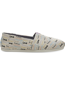 Girl Power Canvas Women's Classics by Toms