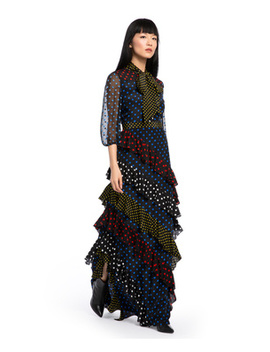 Lessie Ruffle Maxi Dress by Alice And Olivia