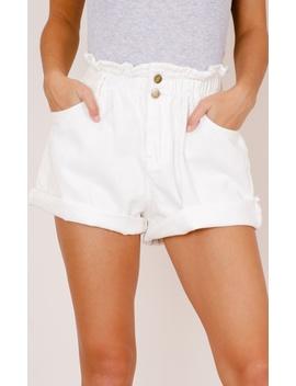 Stomping Ground Denim Shorts In White by Showpo Fashion
