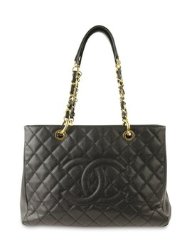 Grand Shopping Black Leather Tote by Chanel