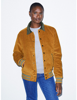 Unisex Corduroy Letterman Jacket by American Apparel