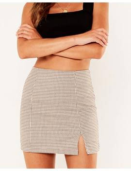 Houndstooth Mini Skirt by Glassons