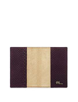 Python Embossed Leather Passport Case by Barneys New York
