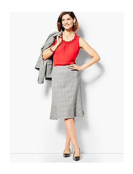 Glen Plaid Full Skirt by Talbots