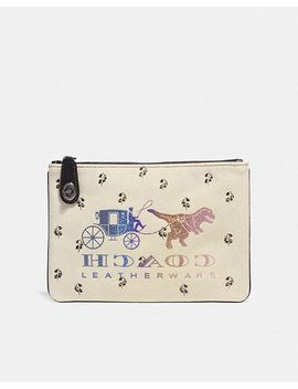 Turnlock Pouch 26 With Rexy And Carriage by Coach