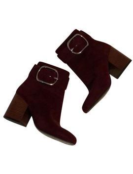Burgundy Kenze Boots/Booties by Alexander Wang