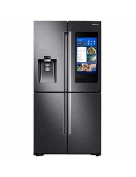 Samsung 28 Cu. Ft. 4 Door Flex™ With 21.5 In. Connected Touch Screen Family Hub™ Refrigerator   Black Stainless Steel by Samsung