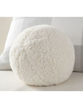 Cozy Sherpa Ball Filled Pillow by Pottery Barn