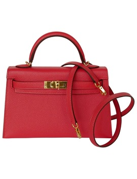 Kelly Mini Leather Handbag by Hermès