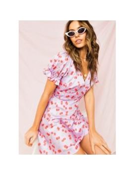 Valentina Mini Dress   Lilac Cherry by Peppermayo
