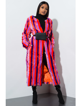 Me Myself And I Fur Trench Coat by Akira