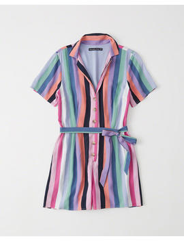 Tie Front Romper by Abercrombie & Fitch